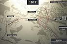 Казань: маршруты трамваев 1917 стенд в музее горэлектротранспорта.