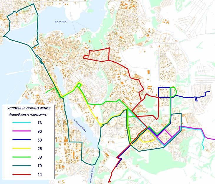 схема автобусов казань — схема