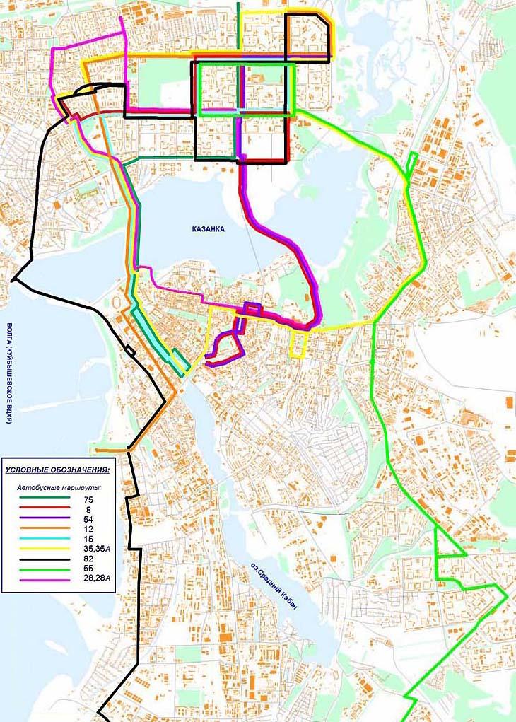 Схема маршрута автобусов